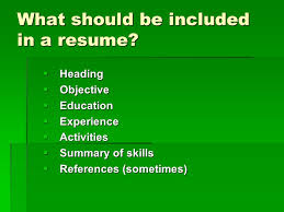 Summary In A Resume High Student Resume U0027 Ppt Download