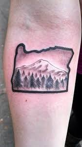 mountain tattoo mt hood tattoo my tattoos pinterest