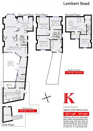 Msg Floor Plan Lambert Road Brixton Sw2 5 Bed End Of Terrace House For Sale