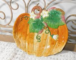 fitz floyd pumpkin etsy