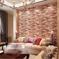 ketian modern three dimensional wallpaper red brick wall pvc