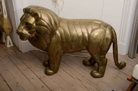 metal lion statue sergio bustamante brass lion sculpture at 1stdibs