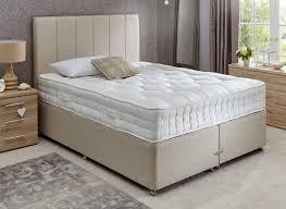 Spring Bed by Insignia Bedgebury Pocket Spring Divan Bed Firm Beige