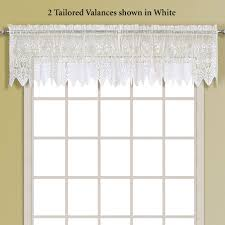 Sheer Swag Curtains Valances Valerie Macrame Sheer Tier Window Treatment