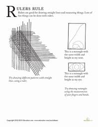 drawing with a ruler worksheet education com
