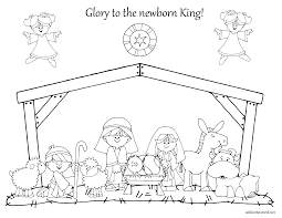 christmas nativity coloring pages eson me