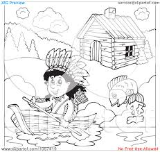 free printable native american clipart 32