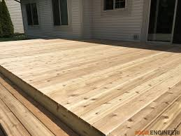Cedar Deck Bench How To Build A Floating Deck Rogue Engineer