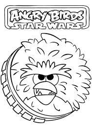 angry birds star wars chewbacca angry coloring pages batch