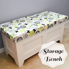 free plans for a diy storage bench i would remove the little