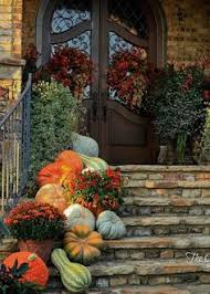 Fall Decorated Porches - autumn table setting with spode woodland flatware porch and