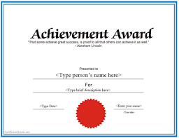 creative certificate achievement or achievement award ms word