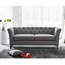 canapes chesterfield the déco canapé chesterfield tissu gris chaises