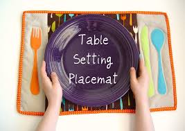 table setting placemat table setting placemat punkin patterns