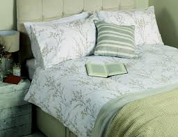 laura ashley willow dove grey floral double duvet cover set