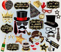 photo booth party props 30th birthday printable thirty props birthday photo booth props