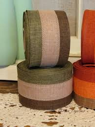 rustic ribbon moss brown wired ribbon earth tones wired ribbon