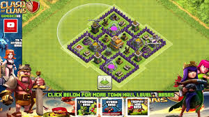 layout coc town hall level 7 clash of clans town hall 7 defense coc th7 best hybrid base layout