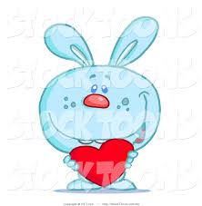 stock cartoon blue bunny rabbit hit toon 50