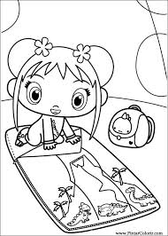 drawings paint u0026 colour ni hao kai lan print design 058