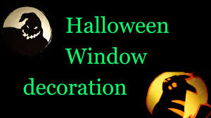 diy halloween window decoration youtube