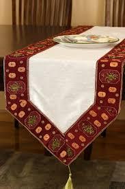 how to make table runner at home glamorous border hand embroidered table runner banarsi designs