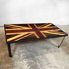 reclaimed wood wall table union jack flag british flag weathered reclaimed wood coffee
