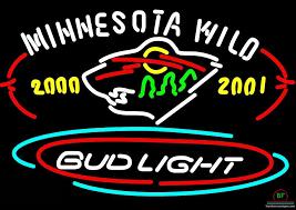 bud light for sale bud light minnesota wild neon sign nhl teams neon light for sale