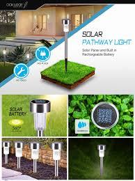 Landscape Lighting Cost by Solar Pathway Lights Oak Leaf Solar Lights Outdoor Led Landscape