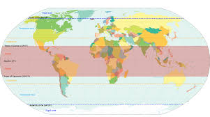 World Map With Longitude And Latitude Lines by Tropics Wikipedia