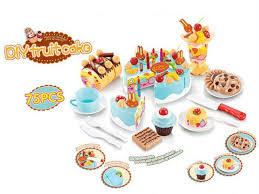 jeux cuisine gateau 75 pcs enfants cuisine jouets d anniversaire gâteau coupé jouets