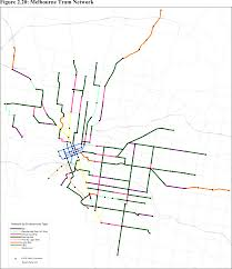melbourne tram map categorising the melbourne tram by environment waking up