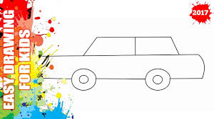 cartoon car drawing simple drawing of a car how to draw a cartoon car from lowercase