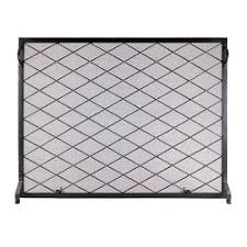 Single Fireplace Screen by Minuteman Harlequin Flat Single Panel Iron Fireplace Screen Wayfair