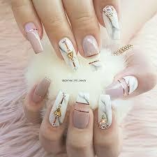 marble nail art nailpro