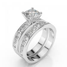 engagement and wedding ring sets diamond bridal set enchantment premier 1 2 carat 0 50ct