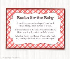 baby q book request printable book instead of a card baby
