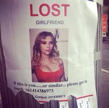 Desperate Girlfriend Meme - man posts lost girlfriend flier featuring scarlett johansson