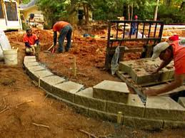 how to build a retaining wall for landscaping video hgtv