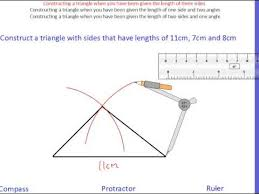 constructing triangles youtube