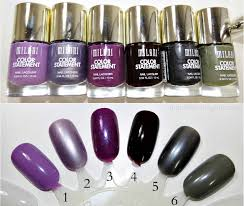 milani color statement nail lacquer swatches
