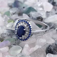silver sapphire rings images Vintage natural sapphire ring 925 sterling silver jpg