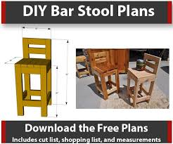 Wooden Bar Stool Plans Free by How To Make Bar Stools