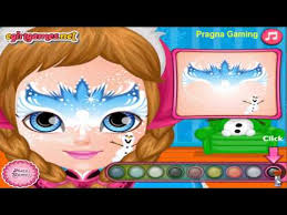 baby barbie frozen face painting fashion games baby barbie