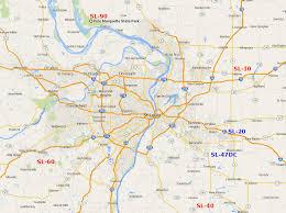 Map St Louis St Louis Defense Area Nike Sites