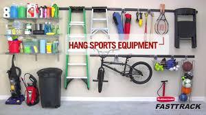 rubbermaid fasttrack garage organization system hd youtube