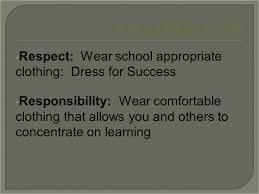 Comfortable Dress Code Clear Creek Middle Dress Code 4 R U0027s Dress Code Respect