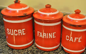 vintage orange kitchen canisters gorgeous kitchen canisters