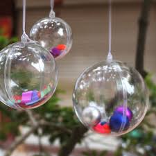 online shop christmas tree decor ornament ball type transparent