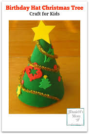 birthday hat christmas tree craft for kids christmas activities